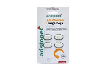 Aristopet Allwormer Tablets for Large Dogs Pack of 4