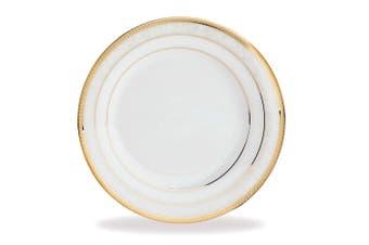 Noritake Hampshire Gold Porcelain Dinner Plate 27cm White