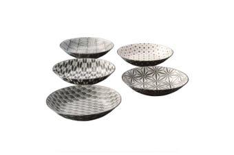 Noritake Komon Japanese Porcelain 5 Piece Soup Bowl Set 19cm