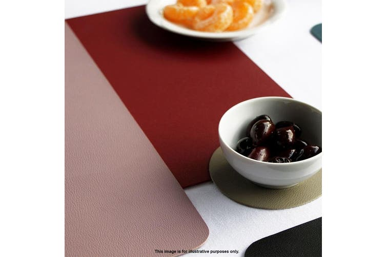 Ziczac Togo Faux Leather Placemat 45 x 30cm Mauve