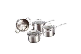 Baccarat iconiX 4 Piece Cookware Set Stainless Steel Mirror Finish Cookset