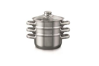 Baccarat Gourmet 3 Tier Stainless Steel Steamer Set 18cm