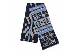 AFL Adult Snowflake Scarf Carlton Blues
