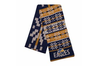 AFL Adult Snowflake Scarf West Coast Eagles