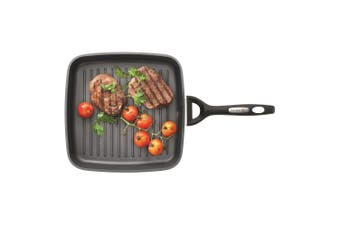 Baccarat iD3 CS Hard Anodised Griddle 26cm with Bakelite handle