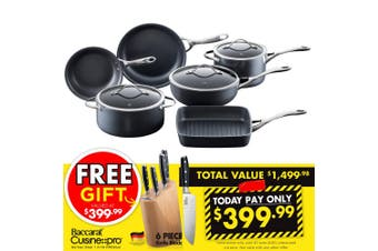Baccarat iD3 6 Piece Cookware Set Non Stick Cookset Cooking Set