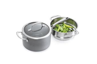 Cuisine::pro Swiss+Tec Ceramic and Stainless Steel Steamer Set 20cm