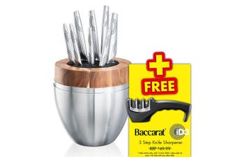 THE EGG by Baccarat iD3 9 Piece Premium Japanese Steel Knife Block Set Knives