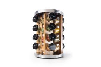 Baccarat Spice Market Khari Stainless Steel 16 Jar Spice Rack