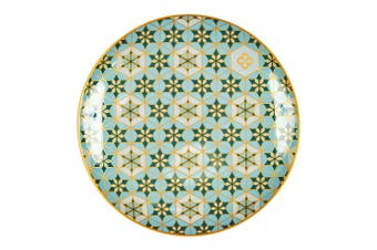 Marie Claire Mosaique New Bone China Snack Plate 17.2cm Teal