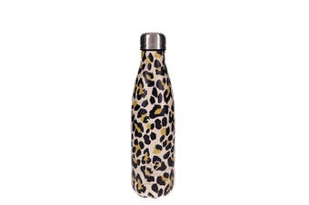 Hydro2 Togo Vacuum Double Wall Stainless Steel Water Bottle 500ml Leopard