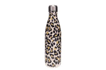 Hydro2 Togo Vacuum Double Wall Stainless Steel Water Bottle 750ml Leopard