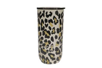 Hydro2 Togo Double Wall Stainless Steel Coffee Cup 480ml Leopard