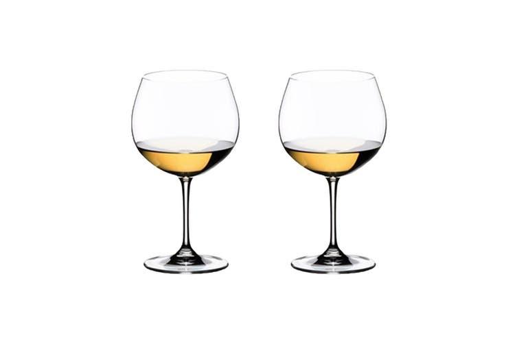 Riedel Vinum 2 Piece Crystal Oaked Chardonnay Wine Glass Set 600ml
