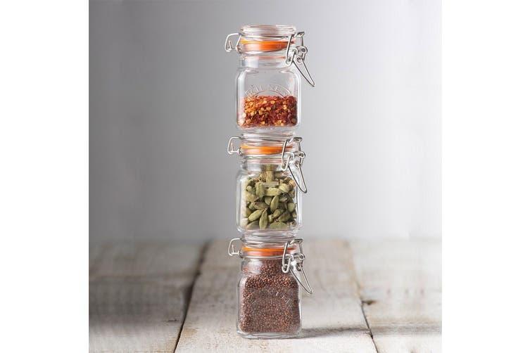 Kilner Square Clip-Top Spice Jar 70ml