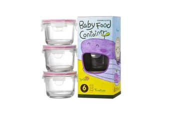 Glasslock 3 Piece Baby Food Container Set Round 165ml