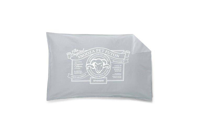 Snooza Dog Bed Futon Cover Organic Ash Mini