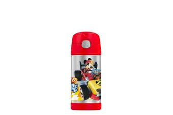 Thermos FUNtainer Stainless Steel Disney Mickey Mouse Drink Bottle 355ml