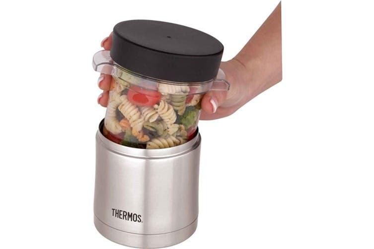 Thermos Microwave Food Jar 355ml Stainless Steel Vacuum Insulated Sleeve