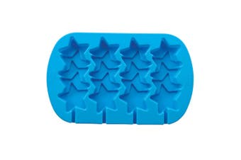 Wilton Silicone Stacked Star Icy Pop Mould 2 x 17 x 31cm Blue