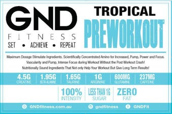 GND Pre-Workout 250G - Tropical 250g