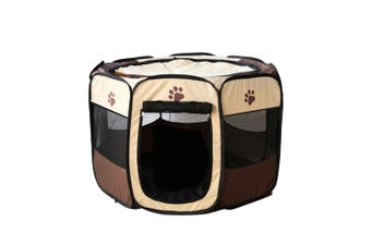 8 Panel Pet Tent Playpen Dog Cat Play Pen Bags Kennel Portable Puppy ACB