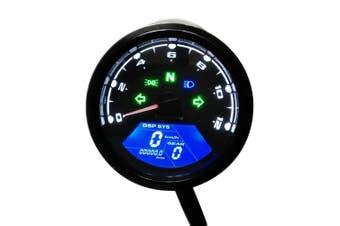 Contachilometri 12000RPM Digitale LCD Universale Contachilometri Contagiri Moto
