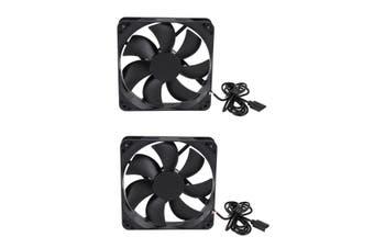 Portable 2 PCS Mini USB Cooling Fan Portable PC Desktop Table Silent Air Cooler