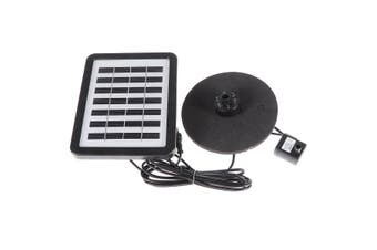 Solar Power Water Pump With LED Light Battery Garden Outdoor Pond Fountain Pool