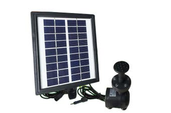 LED Light 200L/H Solar Submersible Fountains Water Pump Battery Floating Pond