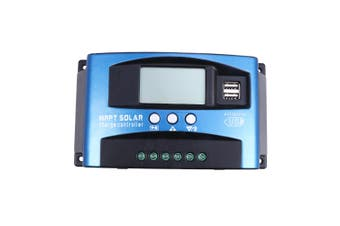 100A MPPT Solar Panel Regulator Battery Charger Controller 12/24V W/ LCD USB