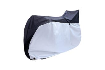 Waterproof Bike Cover Bicycle Outdoor UV Dust Rain Snow Cover Shield Black+Silve
