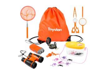 Kids Outdoor Adventure Camping Kit Bug Catcher Kit With Drawstring BagBinoculars