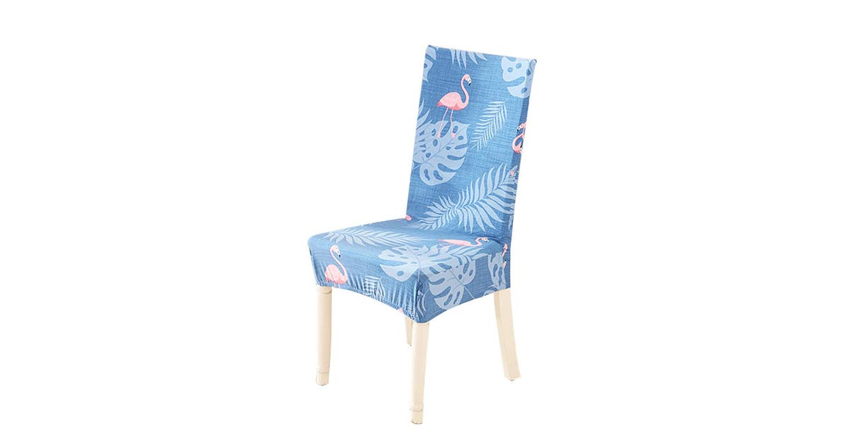 Milk Silk Dining Chair Cover Elegant Printed Stretch Chair Slipcover Removable Washable Chair Protector For Dining Room Restaurant Bar Warmhearted Bird Matt Blatt