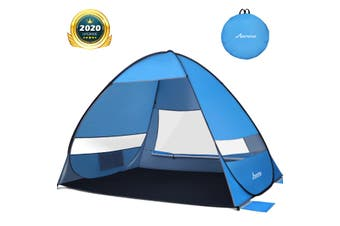MOVTOTOP Lightweight Portable Automatic Pop-Up Beach Tent Sun Shelter for Hiking
