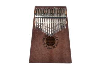 Portable Vintage Kalimba 17 Keys Thumb Piano Wooden Musical Instrument for Beginner Learner (Vintage Color)