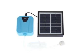 Dual Solar Power Aquarium Fish Tank Oxygen Pump Creative Outdoor Fishing Oxygen Pump (Sky-blue)