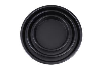 "3PCX 6/8/10"" Round Pizza Baking Pan Non-stick Pizza Tray Baking Mold for Kitchen"
