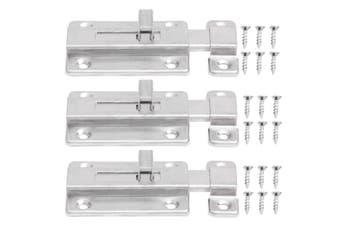 3pcs 3 inch Stainless Steel Safety Door Latch Sliding Lock Barrel Door Bolt