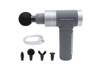 LCD 6000mAh Massage Gun Percussive Vibration Muscle Massager Sports Recovery AU(Grey)