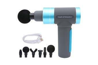 LCD 6000mAh Massage Gun Percussive Vibration Muscle Massager Sports Recovery AU(Blue)