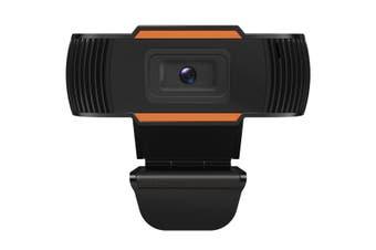 Webcam Computer Web Camera for Laptop Desktop with Microphone HD Autofocus Black