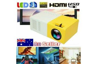 Portable Mini Projector HD 1080P Movie Video Projectors Home Theater HDMI AV