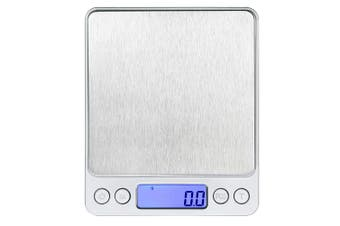 Kitchen Electronic Scale Portable Baking Scale High-Precision Electronic Balance Silver