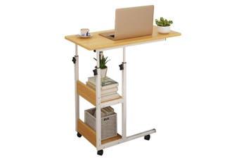 Mobile Laptop Desk Bed Stand Computer Table Adjustable Notebook Bedside Table