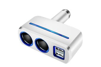 1PC Car Cigarette Lighter Car 3.1A Dual USB Charger Quick Charging USB Charger for Car Use (White)