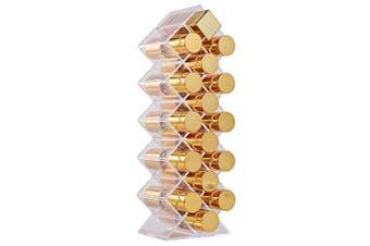 1pc 16 Grids Lipstick Holder Display Rack Multilayer Fish Shape Acrylic Lipstick Organizer Display Stand Desktop Organizer
