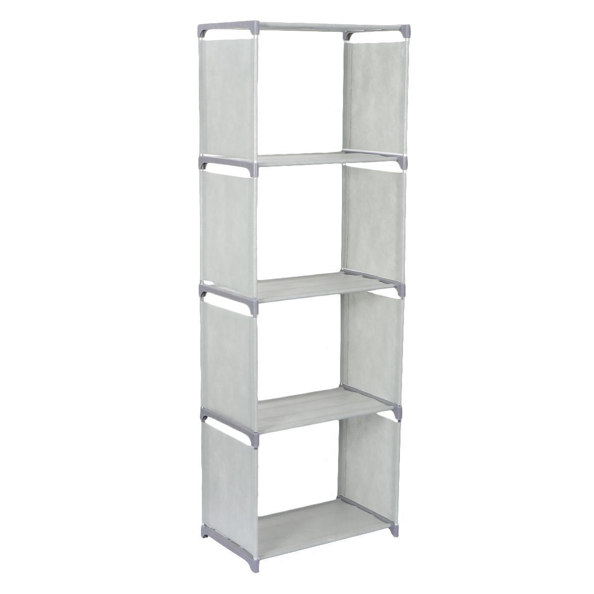 1pc Diy Simple Table Bookshelf Desktop Bookcase Modern Book Rack Book Board For Home Study Office 5 Layers Grey Matt Blatt
