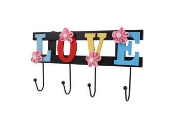 Unique Love Letter Wall Hook Wooden Hook Grocery Storage Hook Creative Wall Decoration Hook for Home Living Room