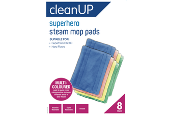 CLEAN UP Clean Up Superhero Steam Mop Pads 8pk